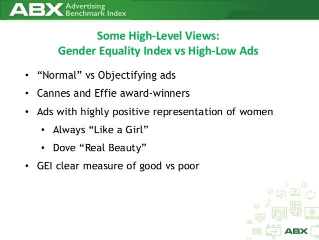 gender equality in advertisements Britain's advertising regulator, reacting to these ads and similar ones, announced tuesday that new rules would be developed to ban advertising that promotes gender stereotypes or denigrates.