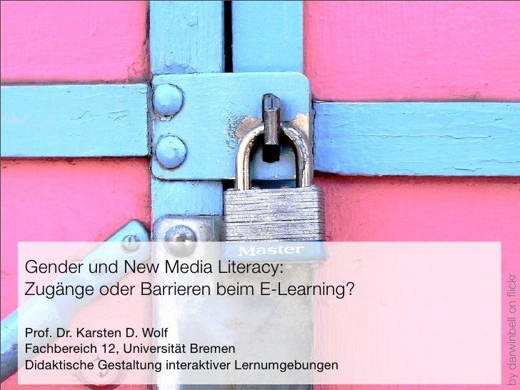 Gender und New Media Literacy:                                                          by darwinbell on flickr Zugänge ode...