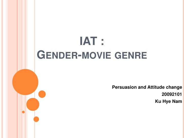 IAT :GENDER-MOVIE GENRE            Persuasion and Attitude change                                 20092101                ...