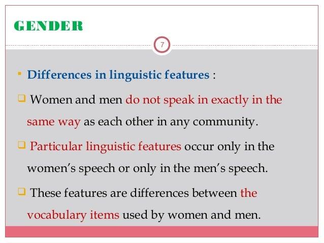 Linguistic female sex