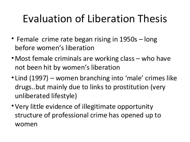 liberation thesis crime