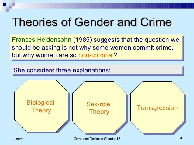 sociological explanations for gender differences in crime Read about short notes of sociology brief information and notes about gender  and crime a students guide to sociology.