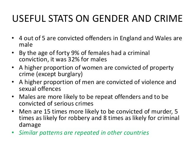Sex differences in crime