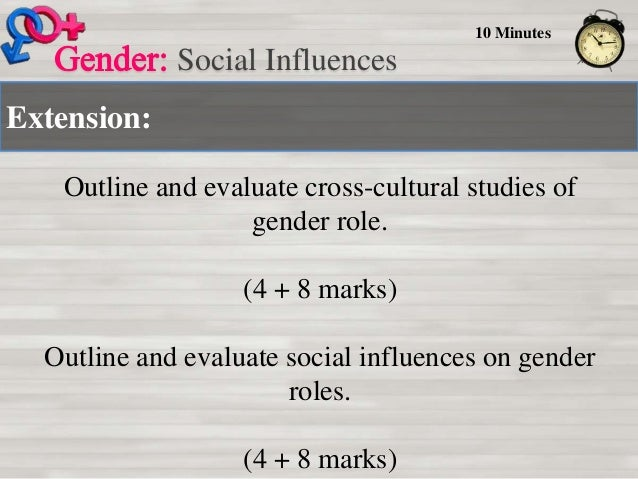 Outline and evaluate cross cultural studies of gender role essay