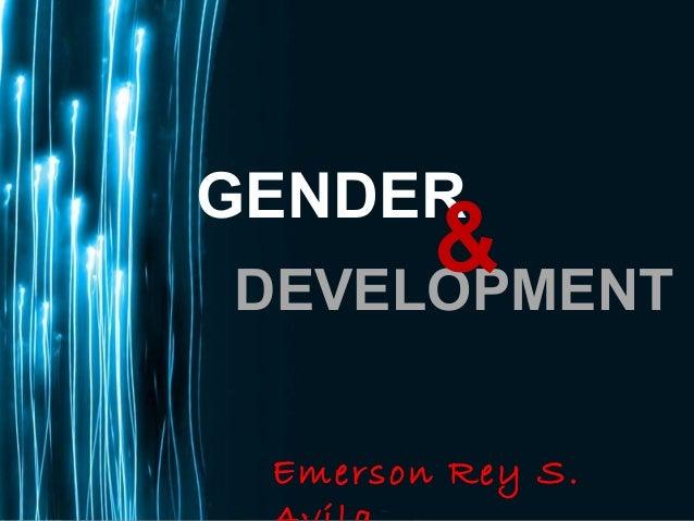 Page 1GENDERDEVELOPMENT&Emerson Rey S.
