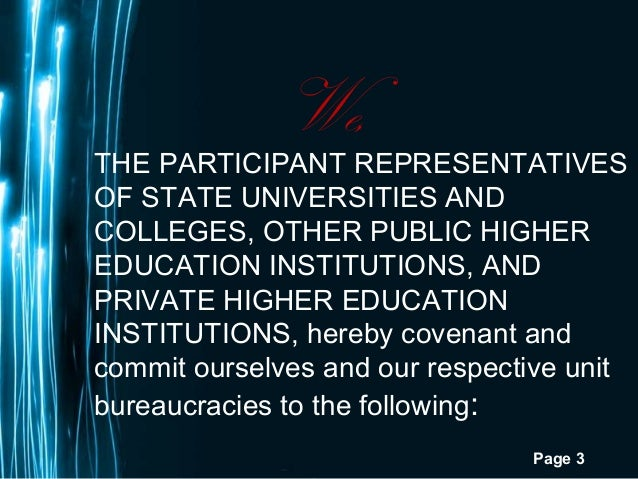 Page 3We,THE PARTICIPANT REPRESENTATIVESOF STATE UNIVERSITIES ANDCOLLEGES, OTHER PUBLIC HIGHEREDUCATION INSTITUTIONS, ANDP...