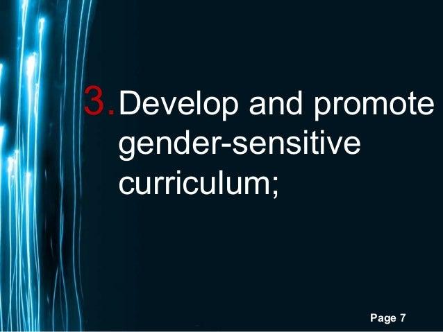 Page 73.Develop and promotegender-sensitivecurriculum;