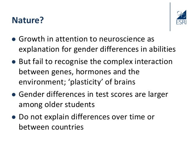 Gender and education: Why do girls