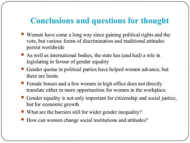 gender discrimination conclusion