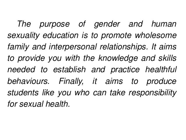 Importance of human sexuality education