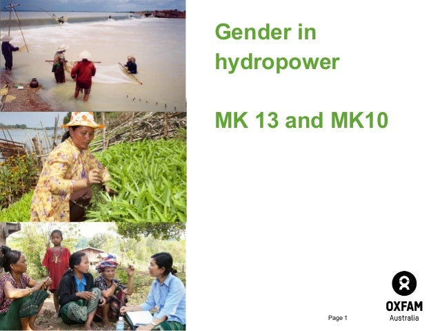 Gender in hydropower MK 13 and MK10  Page 1