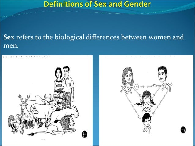 Sex refers to the biological differences between women and men.