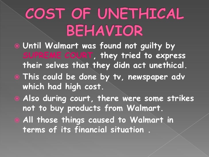 walmart unethical behavior
