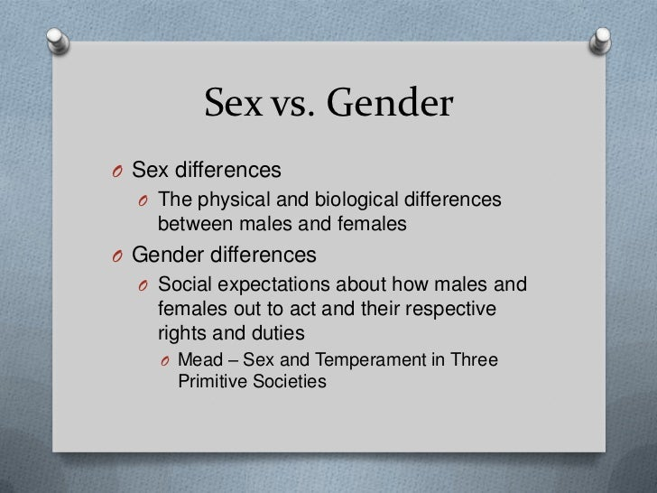 The difference between sex and gender 12