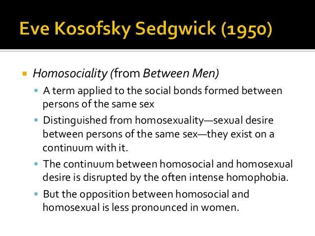 Homosocial vs homosexual statistics