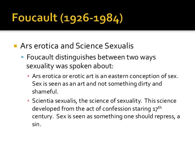 Scientia sexualis definition