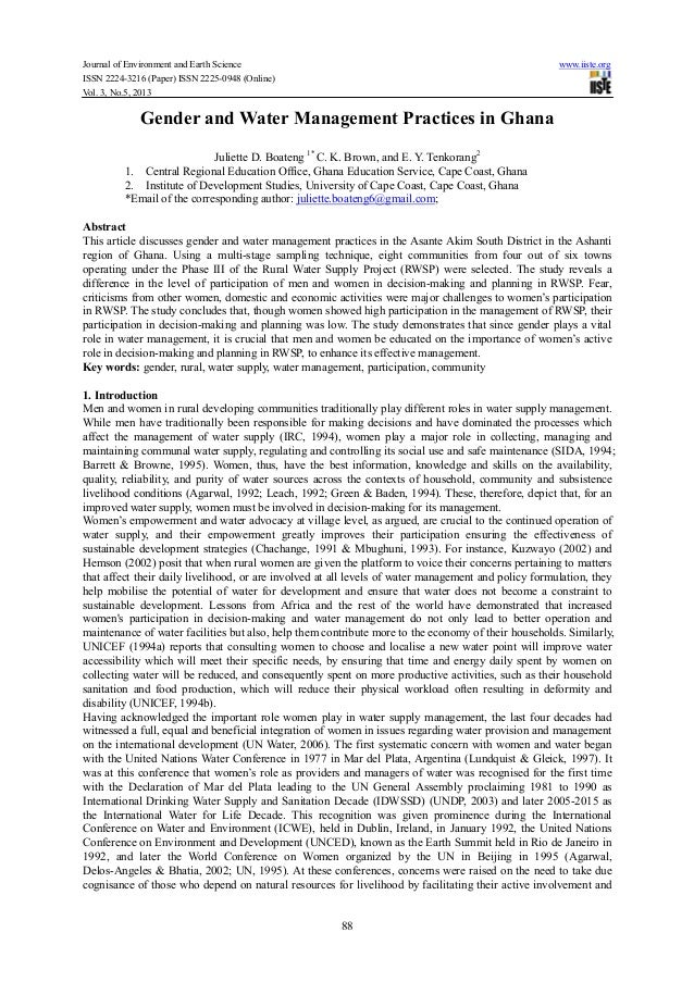 Journal of Environment and Earth Science www.iiste.orgISSN 2224-3216 (Paper) ISSN 2225-0948 (Online)Vol. 3, No.5, 201388Ge...