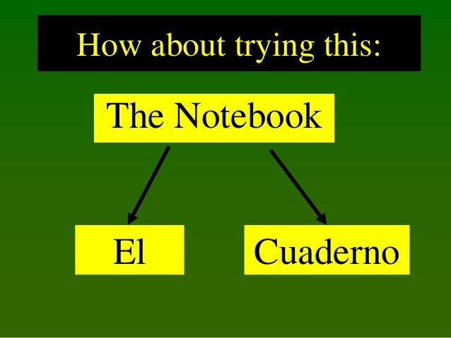 How about trying this:  The Notebook  El  Cuaderno
