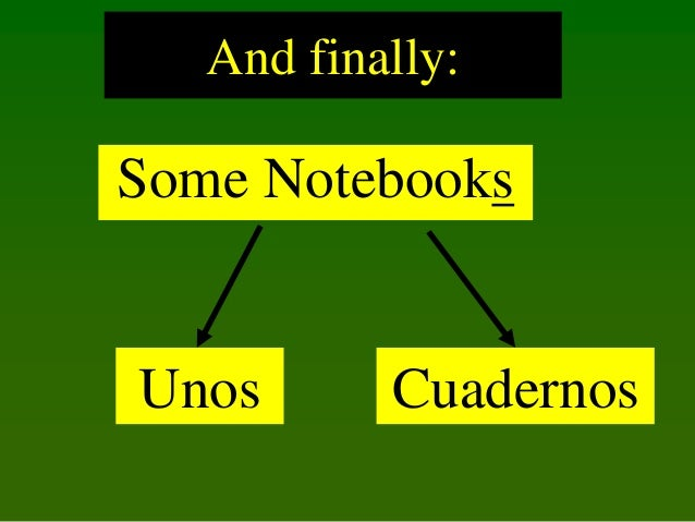 And finally:  Some Notebooks  Unos  Cuadernos