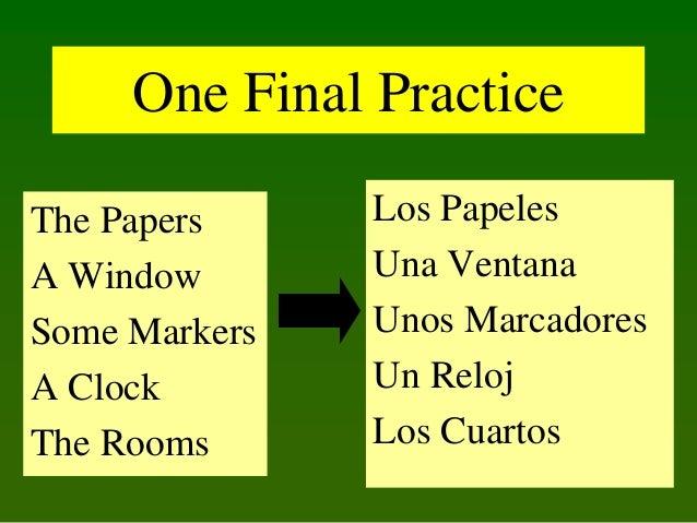 One Final Practice The Papers A Window Some Markers A Clock The Rooms  Los Papeles Una Ventana Unos Marcadores Un Reloj Lo...