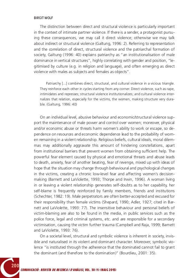 Gender based violence essay