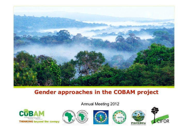 Gender approaches in the COBAM project                             Annual Meeting 2012THINKING beyond the canopy