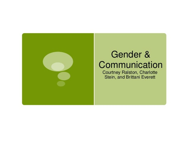 gender and comm