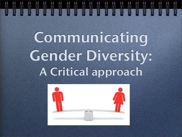 Communicating Gender Diversity: A Critical approach