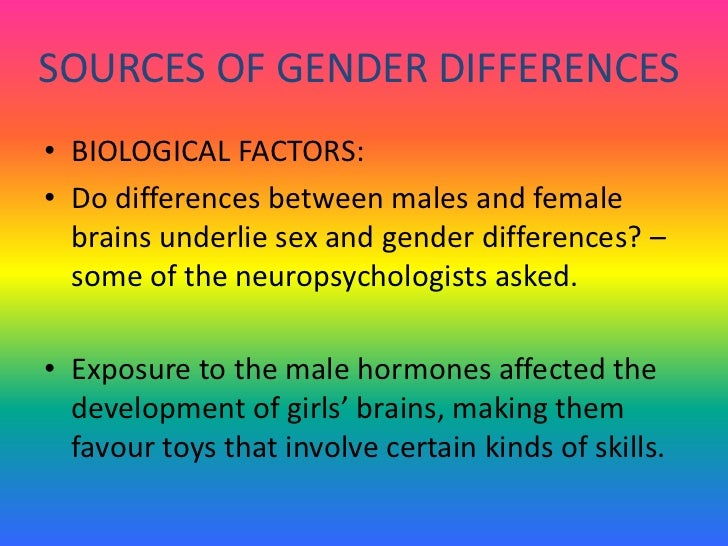 Bilogical sex differences