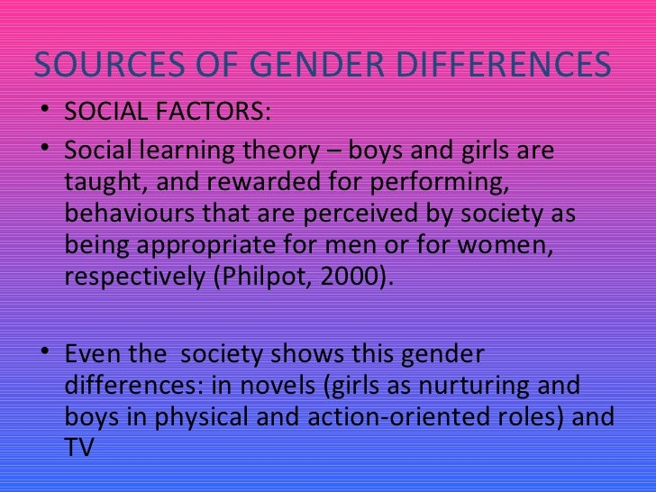 the predispositions for social gender differences One reason for this, says the fix, is that the gender gap has been steadily  shrinking since  risk factors can play significant roles in the gender and  addiction balance  as evidence suggests, women abuse drugs for social  reasons, but also.