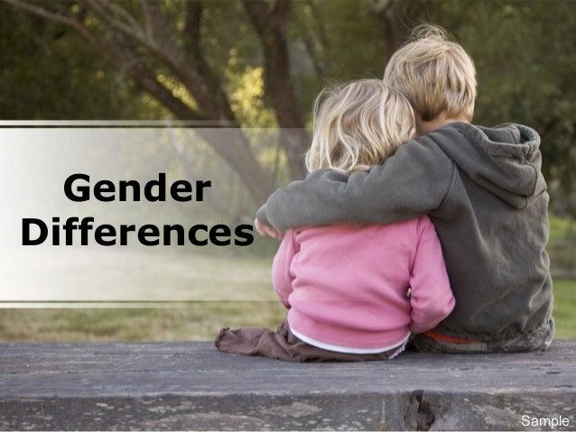 Gender Differences Sample