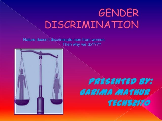 About Gender Discrimination - Bing images