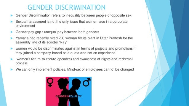 Why sex discrimination