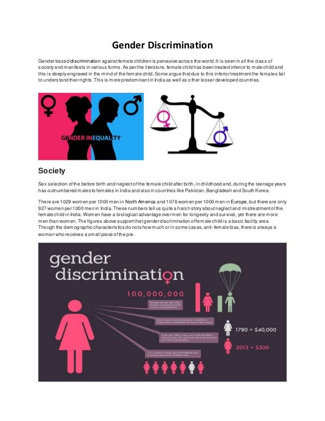Essay on gender discrimination in india