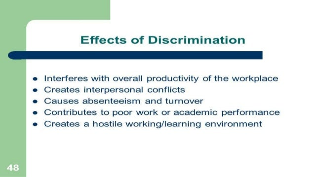 Examples of sexual discrimination in the workplace