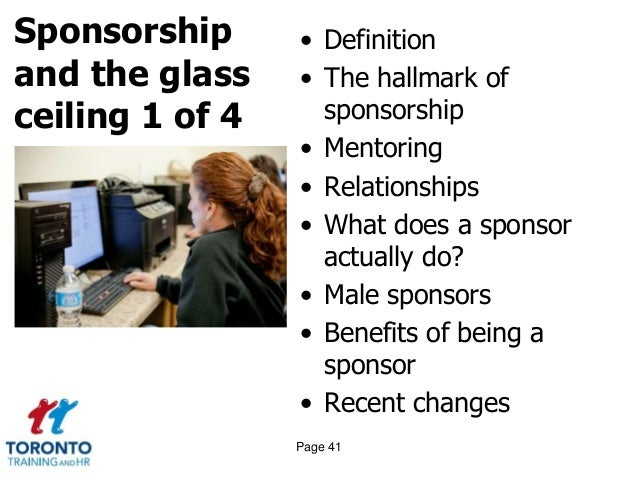 Page 40 Sponsorship And The Glass Ceiling; 41.
