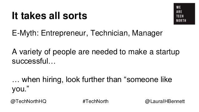 Recruiting women in tech @TechNorthHQ #TechNorth @LauraIHBennett
