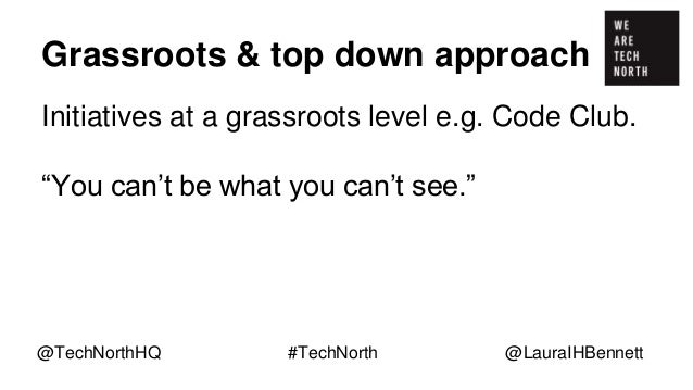 """Grassroots & top down approach Initiatives at a grassroots level e.g. Code Club. """"You can't be what you can't see."""" Showca..."""