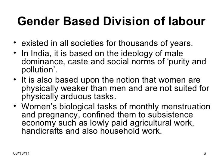 gender based division of labour