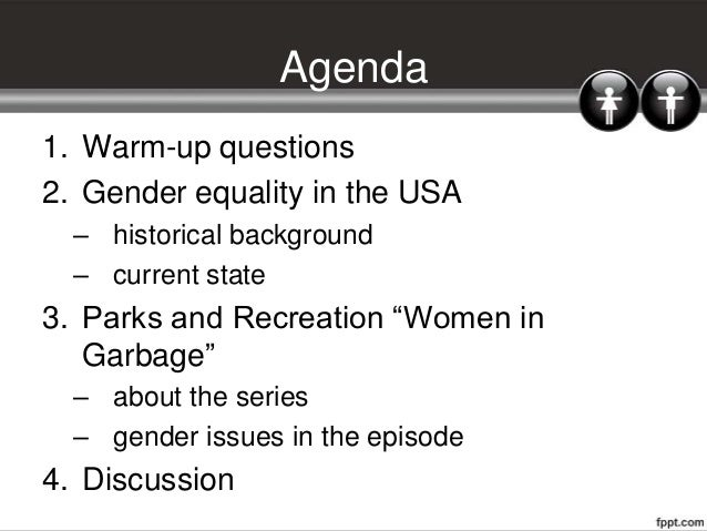 Gender equality Slide 2