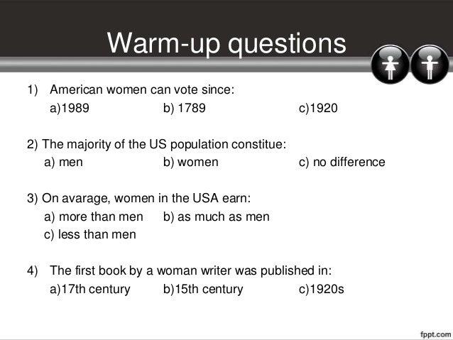 Gender equality Slide 3