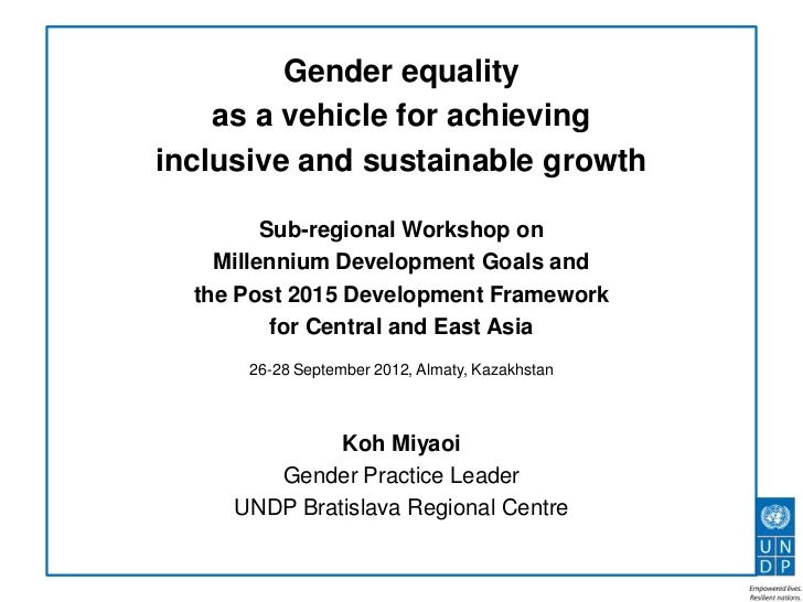 gender equality and environmental sustainability in That gender equality is not necessary for environmental sustainability the relationship between women's empowerment and the environment is often restricted to discussions on population with the argument that reducing birth rates by enabling women to.