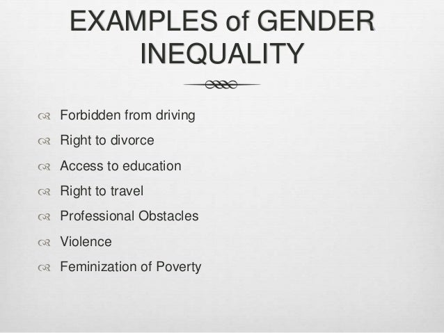 gender discrimination 6 essay 10 examples of gender bias you may encounter in the workplace of prejudice and discrimination and it has no a gender-neutral style of conversation 6.
