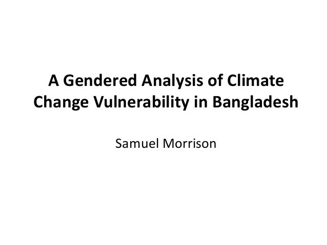 Climate Change: Gender, Food Security, Human Security