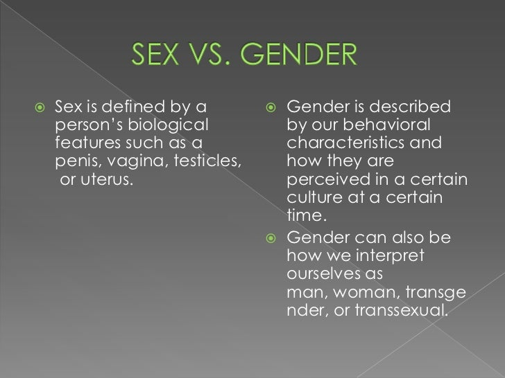 Sexual orientation vs gender identity