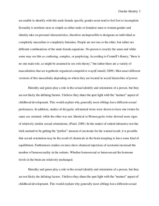 Essays On Gender Essays On Stereotypes High School Persuasive Essay  Gender Identity Paper Gender