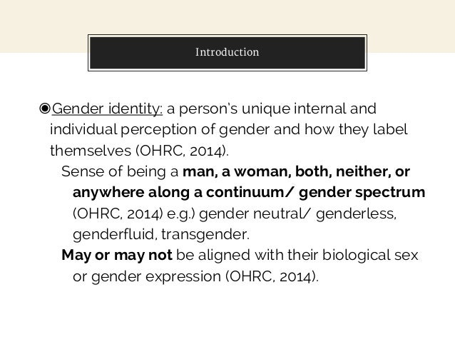 gender identity project Transparency: the gender identity project examines individuals who are exploring and challenging their identity through the social binary construct of gender of.
