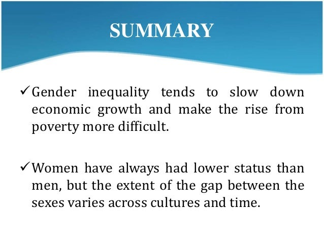 Gender inequality summary