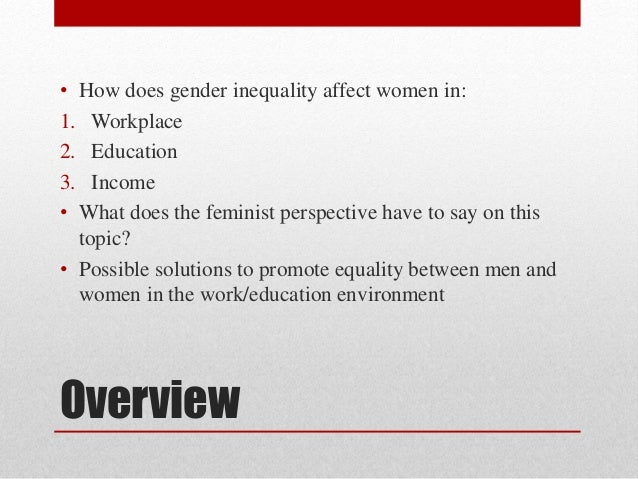 Research proposal about inequality between men and women