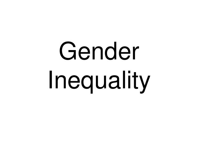Gender inequality and stereotypes